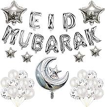 Colcolo Eid Mubarak Banners Balões para Casa kit Enfeites de Coleta de Estrelas Da Lua Ramadan Islâmico Muçulmano Pendurad...
