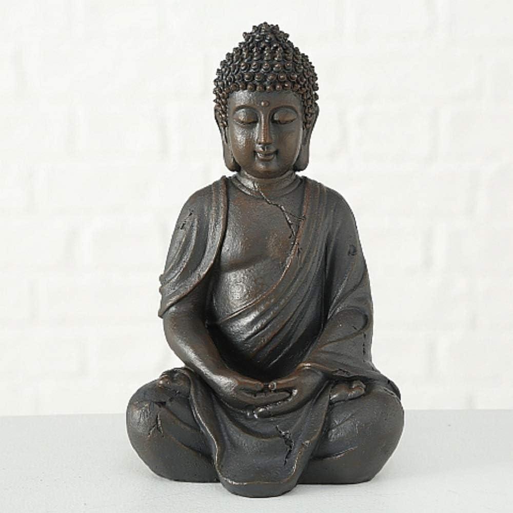CasaJame Hogar Accesorios Decoración Ornamento Esculturas Estatua en Forma de Buda Sentado 20cm