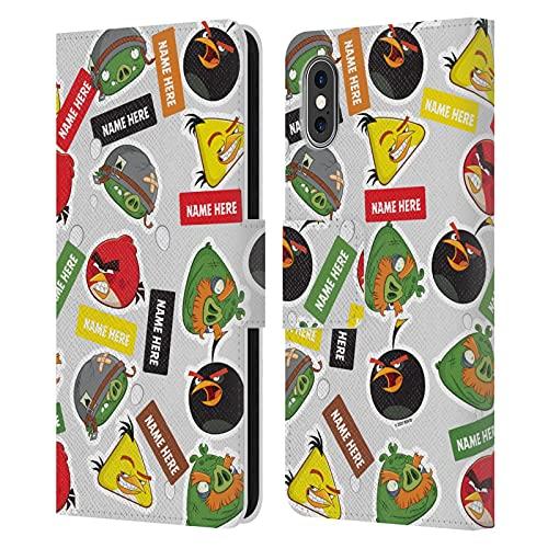 Head Hülle Designs Offiziell Zugelassen Personalisierte Persönliche Angry Bird Darsteller & Namen Muster Kunst Leder Brieftaschen Handyhülle Hülle Huelle kompatibel mit Apple iPhone X/iPhone XS