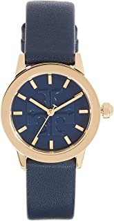 Tory Burch Women's The Gigi Strap Watch, 28mm, Navy/Gold/Navy, One Size