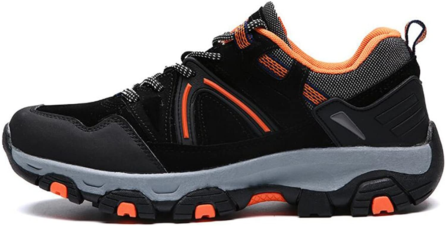 Men's Outdoor Hiking shoes 2018 New Non-slip Wear-resistant Outdoor Sports Suede Climbing Tourist Low Top Sneakers (color   Black, Size   39)
