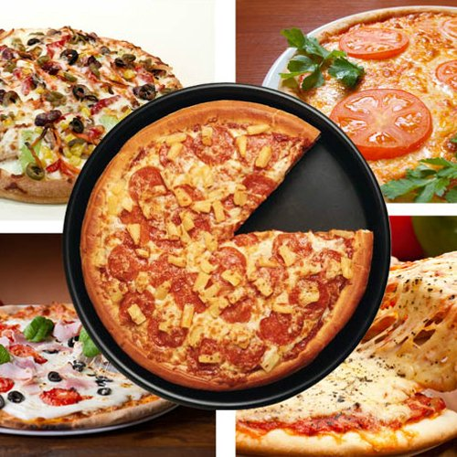 Leluckly1 Multifunktionsküchenkoffer Hochwertige 9-Zoll-Runde Antihaft-Pizza-Pfanne Backen Backofen Tablett, Größe: 24,5 (D) x 1,6 cm (H)