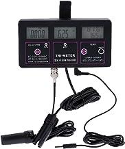 Water Quality Tester, KKmoon 6in1 Multi-parameter Water Testing Meter Digital LCD Multi-function Water Quality Monitor pH / RH / EC / CF / TDS(PPM) / TEMP Salt Analyzer