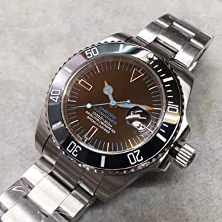 CWTCHY Watch Date Ceramic Bezel Sapphire Glass Automatic Stainless Steel Stainless Steel Clasp Men Watch