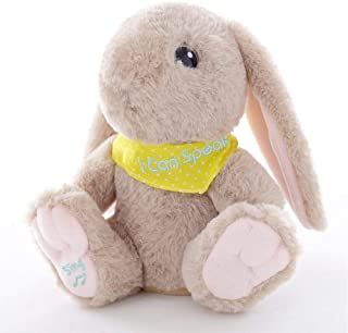 Plush Interactive Talking Bunny Toy Repeats What You Say Singing Rabbit Doll Stuffed Animals Play Musical Educational Toy Baby Children Gift,Light Brown