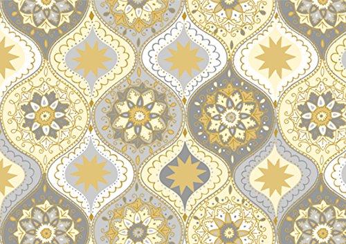 DECORLINE -20 Serviettes en Papier Noël 'Charm Silver/Gold ' - 33x33 cm-Plis