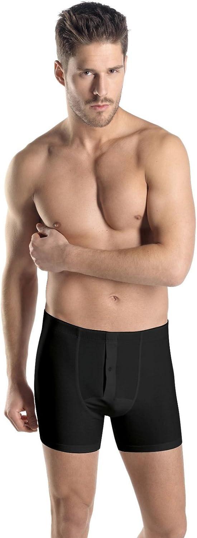 HANRO Men's Cotton Superior Long Leg Boxer Brief