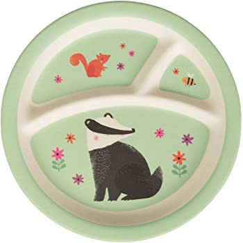 Assiette en Bambou divis/é Porc Peppa Magical; Dimensions 23x23x2 cm; 4 Compartiments 2034