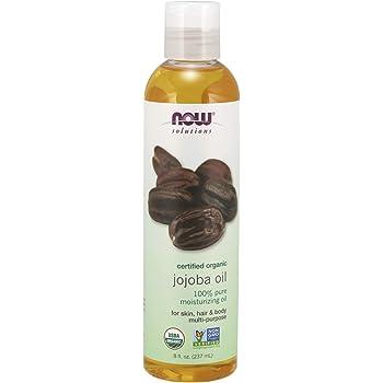 NOW Solutions, Organic Jojoba Oil, Moisturizing Multi-Purpose Oil for Face, Hair and Body, 8-Ounce