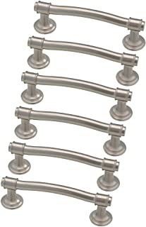 Franklin Brass 3250684-SN-KT, Nautical Drawer Pulls Cabinet Hardware Collection, Cabinet Pulls, 3 in., Satin Nickel, 6 pack