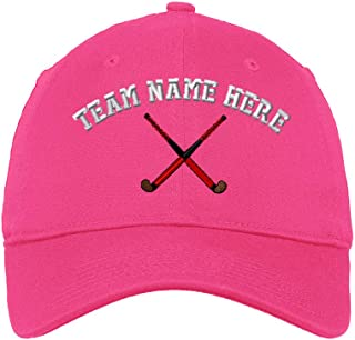 Custom Low Profile Soft Hat Sport Field Hockey Stick Embroidery Team Cotton