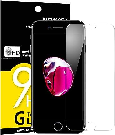 NEW'C Verre Trempé Compatible Pour iPhone 7, iPhone 8, Film Protection écran - ANTI RAYURES - SANS BULLES D'AIR -Ultra Résistant (0,33mm HD Ultra transparent ) Dureté 9H Glass