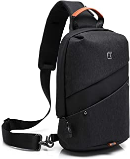 Mesonoda Sling Bag Crossbody Backpack Travel Shoulder Chest Daypack for Men & Women Black