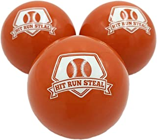 Hit Run Steal Weighted Practice Balls for Baseball and Softball Batting Practice.