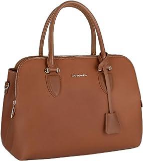 David Jones - Damen Handtasche Henkeltasche Bugatti - Tote Shopper PU Leder Schultertasche - Multi Pocket Viele Fächer Zip...