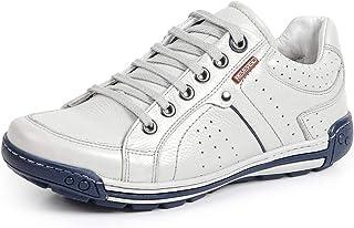 Sapatênis Tênis Couro Linha Conforto Reverso - 3019 - Off White