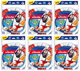 Vileda, Set Vileda Turbo 2in 1EasyWring & Clean, fiocchi di ricambio, 6pezzi