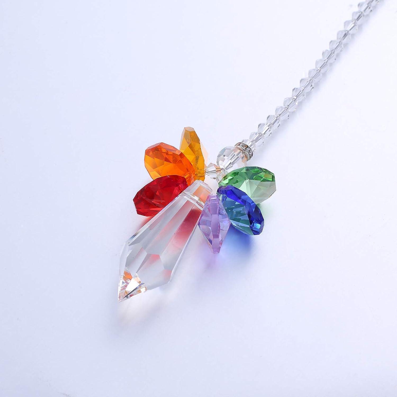 Rainbow Anna Crystalworld Rainbow Guardian Angel Crystal Suncatcher For Home//Car Decoration /& Porch Decor /& Hangings Crystal Glass Ornament