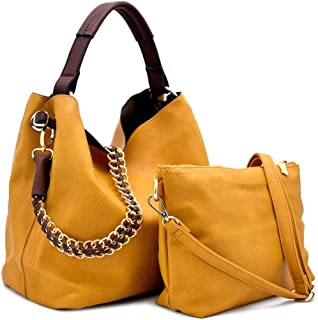 Handbag Republic Top Handle Tote w/ 2 Straps + Crossbody Pouch- 12+ Colors