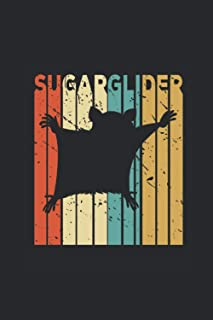 """Sugar Glider: Sugar Gliders Notebook, Graph Paper (6"""" x 9"""" - 120 pages) ~ Animal Themed Notebook for Daily Journal, Diary,..."""
