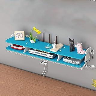 Los estantes flotantes Ruta inalámbrica Rack TV montado en la pared Conjunto de TV-Top, caja de múltiples fijos, montaje e...