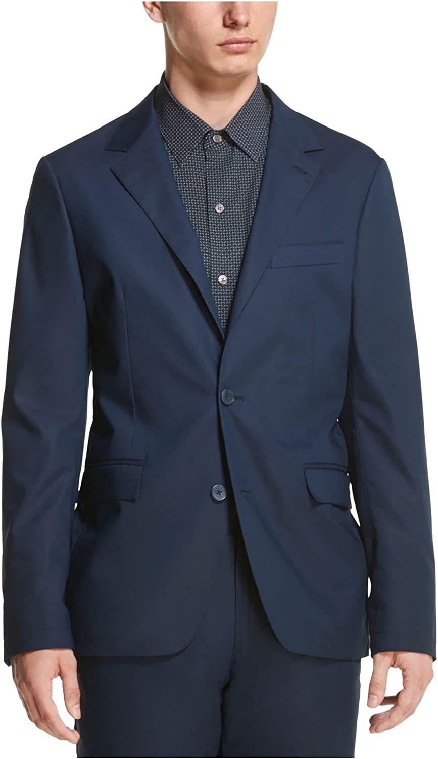 DKNY Mens Business Office Two-Button Blazer