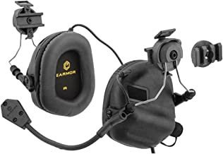 OPSMEN Tactical Earmor M32H Electronic Headphones for FAST Helmets (Black)