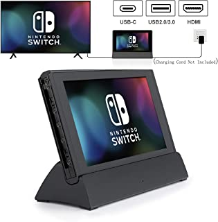 Switch TV Dock, VOGEK Replacement for Nintendo TV Dock Station Portable Charging Docking Playstand for Nintendo Switch Charge and Play with Type C to HDMI TV Adapter, USB 3.0 2.0 …