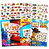 Disney Pixar Ultimate Party Favors Bundle ~ Over 200 Temporary Tattoos Featuring Disney Cars, Toy Story, and More