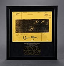 STAR WARS - EP IV - A NEW HOPE-Dennis Muren-Signed Original Production Storyboard - Y-Wings Diving Out of Stars