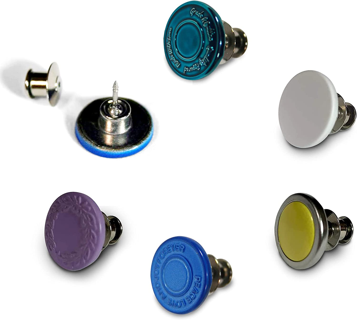 Max 80% OFF 6 Set Colored Button Pins Adjusta Replacement for Jeans Max 86% OFF
