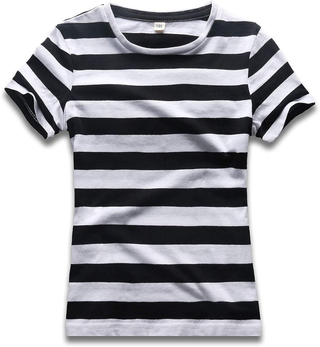 Rainbow T Shirt Boys Stripped Short Sleeve Crew Neck Striped Cotton Tee Stripes