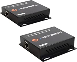 J-Tech Digital HDMI Extender Over Single Cat5e/6/7 Cable Full HD 1080p with TCP/IP, IR Up To 400ft [JTD-EX-120M] (Renewed)