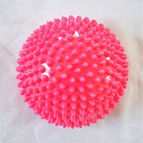 Caliente la bola de equilibrio, táctil, semicírculo Sole, masaje de pies, pelota de tenis y durian yoga bola,Rojocon pinchos