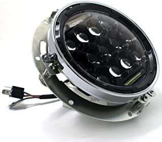 Ocamo 7  75W LED Redondo Faro H4 DRL Hi//Lo Haces para Jeep Wrangler CJ JK TJ Harley Negro