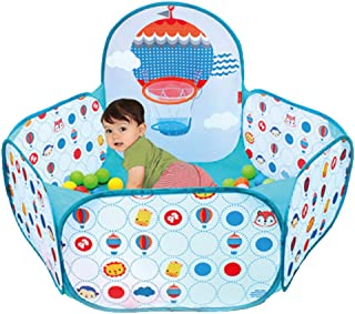 LDAOS Safety Protection Baby Toddler Ball Pool Pit Folding Hexagon Polka Dot GG-45I1 Play House Colorful Portable Indoor