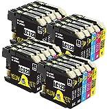 Yellow Yeti Ersatz für Brother LC123 20 Druckerpatronen kompatibel für Brother DCP-J132W MFC-J6920DW DCP-J4110DW DCP-J552DW MFC-J4610DW MFC-J6520DW MFC-J870DW MFC-J6720DW DCP-J152W MFC-J4510DW