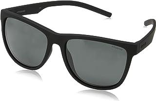 Polaroid PLD 6014/S Y2 YYV Gafas de sol, Negro (Black Rubber/Grey Pz), 56 Unisex Adulto