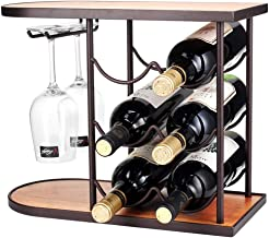 HTTJJ Wooden Independent Wine Rack Wine Glass Display Stands,Vertical Storage Perfect Wine Rack,Wine Cellar,Cabinets and P...
