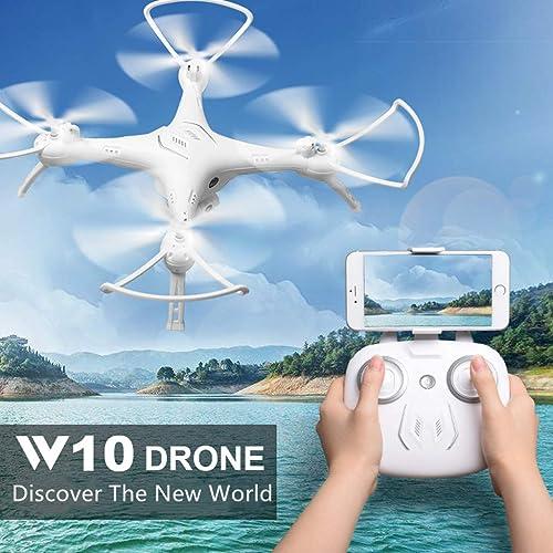Mitlfuny RC Quadrocopter Drohne,Attop W10 WiFi FPV HD Kamera Sprachsteuerung H nlage Quadcopter Drohne