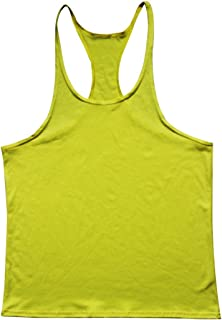 Q&Y Men's Y Back Muscle Fitness Gym Stringer Tank Tops Workout Sleeveless Shirts
