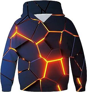 OYABEAUTYE Sudadera con capucha y bolsillo para adolescentes con impresión 3D