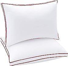 وسائد للنوم، بحشو من الفايبر الناعم، وسائد للسرير مقاس 50×75 سم من سليب نايت، عبوة من قطعتين