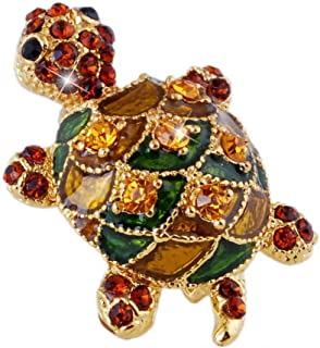 Beautiful brooches jewelry animal tortoise brooches pin for party rhinestone colorful small cute women brooch dress accessories