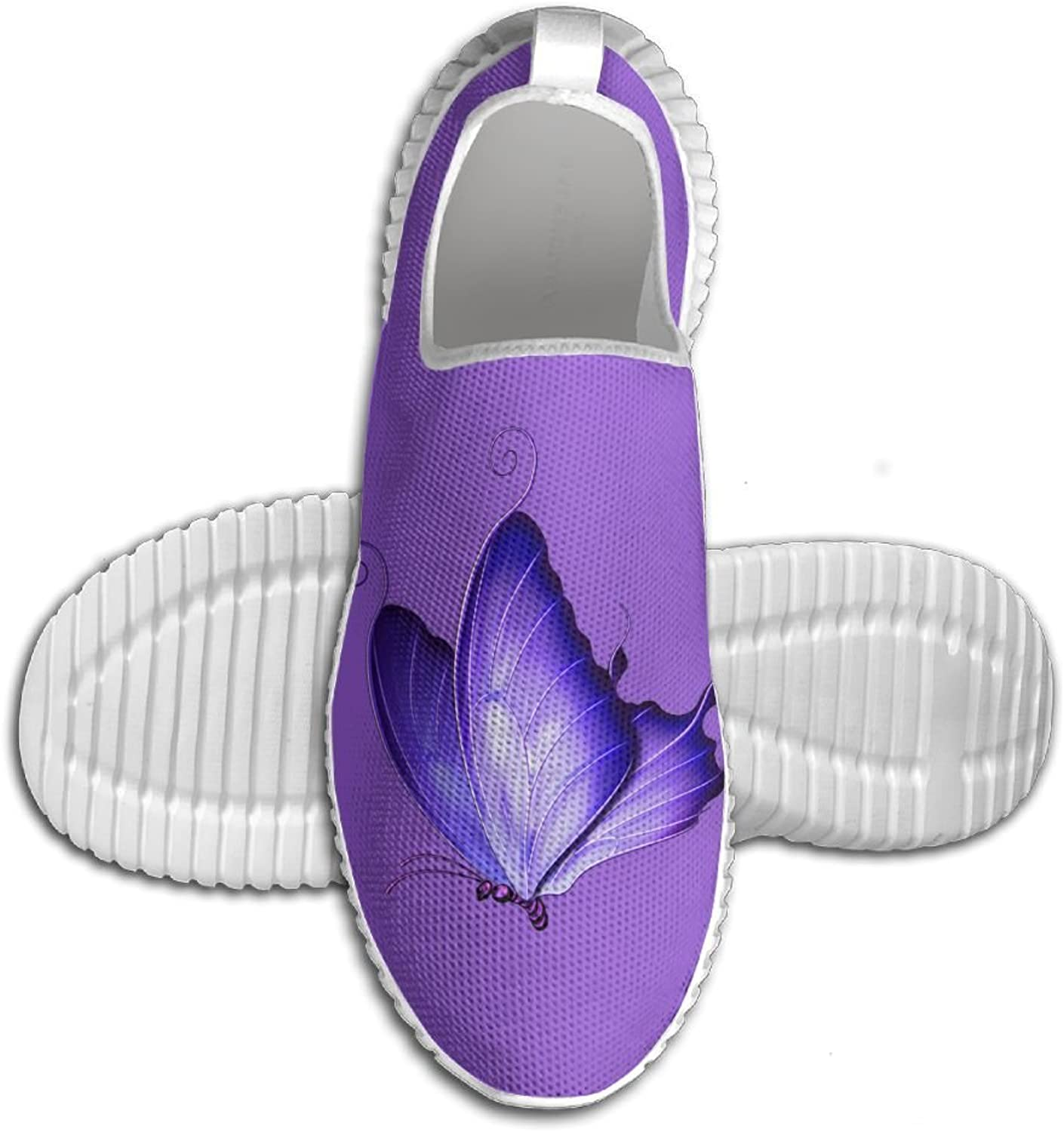 Purple Butterfly Design Lightweight Breathable Casual Sports shoes Fashion Sneakers shoes