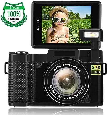 Digital Camera,Vlogging Camera for Youtube 2.7K 24.0MP...