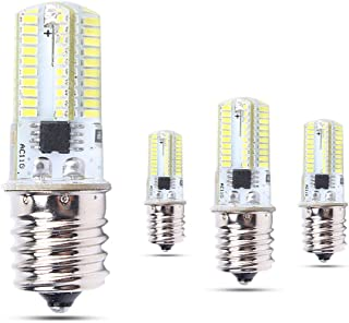 MD Lighting 5W E17 LED Corn Light Bulbs for Microwave Oven Appliance (4 Pack)- 80 LEDs 3014 SMD 500 Lumen Daylight White 6000k LED Bulb 40 Watt Incandescent Bulb Equivalent, AC 110V