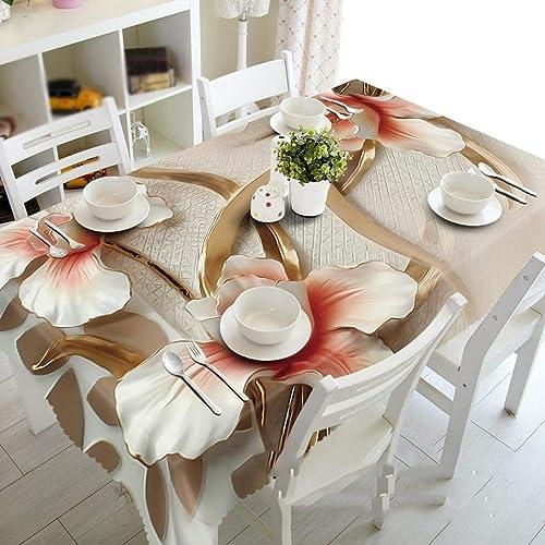 muchas concesiones MARCU Home Flores 3D, manteles a Prueba de Polvo, Polvo, Polvo, sin Sabor Ambiental, paños Impresos Personalizados para máquinas de té, n.o 1, 130  180 cm (Color    1, Talla   130  180cm)  selección larga
