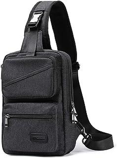 XINCADA Herren Schultertasche, Umhängetasche, Vintage, Segeltuch, kleiner Rucksack, Kuriertasche, Reisetasche.