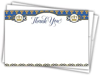 Prince Baby Shower Thank You Cards (20 Count)